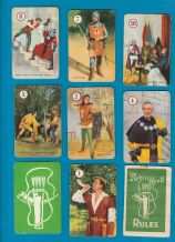 Vintage Collectible cards game Robin Hood ,1956  by Pepys.
